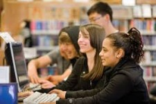 Teens use library resources.
